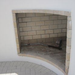 Convave Outdoor Fireplace with Gas Lighter – Sea nest Village, Seagrove Beach, FL