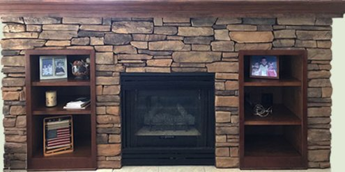 Cultured Stone Fireplace in Rocky Bayou (Niceville, FL)