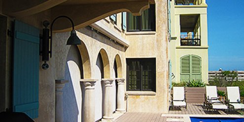Formed Concrete Arches with Plaster Finish – Santa Rosa Beach, FL